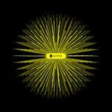 3 d abstrakta kuli Szyk Z Dynamicznymi cząsteczkami Nowożytny nauka i technika element Obraz Stock