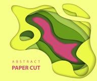 3D abstrakta papieru sztuki styl, projekta układ dla biznesowych prezentacj, ulotki, plakaty, druki, dekoracja, karty, broszurki  ilustracja wektor