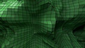 3d abstrakta zieleni plexus plastikowy tło Fotografia Stock