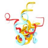 3d abstrakty wyginający się kształty Fotografia Stock