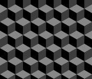 3d abstrato cuba o teste padrão sem emenda geométrico em preto e branco, vetor Imagem de Stock