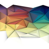 3D abstrato geométrico, poligonal, teste padrão do triângulo ilustração royalty free