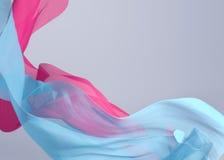 3D abstratos rendem a ilustração Onda de voo da tela de seda, acenando Fotos de Stock