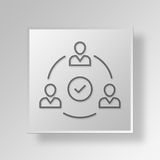 3D accept icon Business Concept. 3D Symbol Gray Square accept icon Business Concept Stock Photos