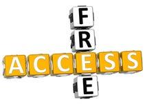 3D Access Free Crossword Stock Photo