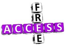 3D Access liberano le parole incrociate Fotografia Stock