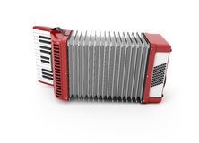 3d Accordion. On white background Royalty Free Stock Photo