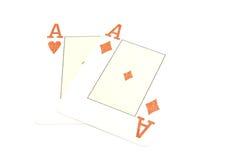 3d aces белизна перевода пар Стоковые Фотографии RF