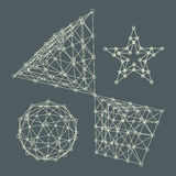 3D achtergrond van de Moleculestructuur Grafisch Ontwerp Stock Foto's