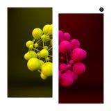 3D achtergrond van de Moleculestructuur Grafisch Ontwerp Royalty-vrije Stock Afbeeldingen