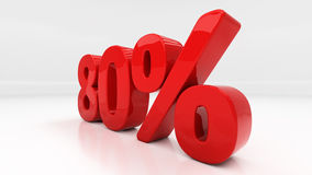 3D achtzig Prozent Stockfotos
