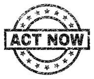 D'ACTE joint texturisé grunge de timbre MAINTENANT illustration libre de droits