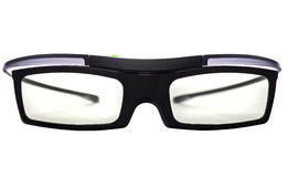 3d actieve glazen over witte achtergrond Stock Afbeeldingen