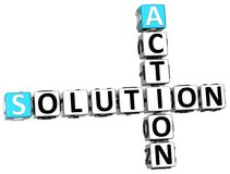 3D Action Solution Crossword Royalty Free Stock Image