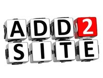 3D Add to Site Cube text Stock Photography