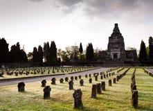 d'Adda de Crespi, Italy. Cemitério Imagem de Stock