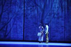 D'adieu-Le acte en second lieu des événements de drame-Shawan de danse du passé Photos stock