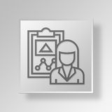 3D administrator icon Business Concept. 3D Symbol Gray Square administrator icon Business Concept Stock Photos