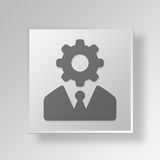 3D administrator icon Business Concept. 3D Symbol Gray Square administrator icon Business Concept Royalty Free Stock Image