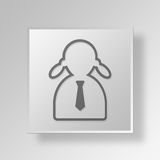 3D administrator icon Business Concept. 3D Symbol Gray Square administrator icon Business Concept Royalty Free Stock Images