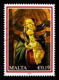 ` D'Admirabilis de mère de ` de la façon de Botticelli, serie 2009 de Noël, vers 2009 Photo stock