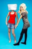 D'adolescent Font des emplettes-aholics - 2 photographie stock libre de droits