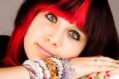 d'adolescent sérieux de fille Images libres de droits