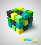 3d adstract cube. Vector object Stock Photo