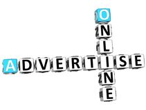 3D Advertise Online Crossword. On white background Stock Photography