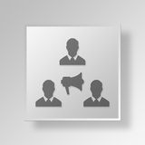 3D Advertising Agency icon Business Concept. 3D Symbol Gray Square Advertising Agency icon Business Concept Stock Image