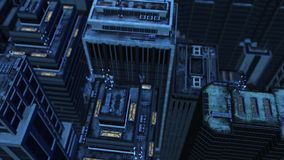 3d aerial city Stock Photos