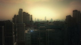 3d aerial city stock footage