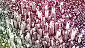 3d aerial city. 3d render. 3d aerial city Royalty Free Stock Photography