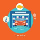 D'affaires de concept de station de lavage automobile propre d'arrêt mieux non illustration de vecteur