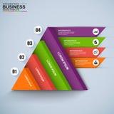 3D affaires numériques abstraites Infographic Image stock