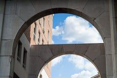 D'Affari della piazza di Milano Fotografia Stock