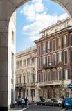 D'Affari della piazza di Milano Fotografie Stock Libere da Diritti