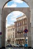 D'Affari della piazza di Milano Fotografia Stock Libera da Diritti