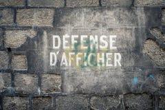 D'Afficher de la défense photos stock