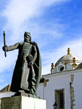 D. Afonso III. Statue located on the old town of Faro, Portugal Stock Photos