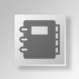 3D agenda icon Business Concept Royalty Free Stock Photography