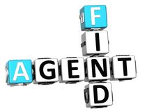 3D Agent Find Crossword cube words. On white background Royalty Free Stock Photography