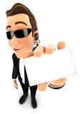 3d agenta ochrony spólki nadrzędna karta Fotografia Royalty Free