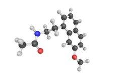 3d Agomelatine结构是melatonergic抗抑郁剂 皇族释放例证
