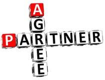 3D Agree Partner Crossword. On white background Stock Image
