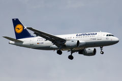 D-AIBD汉莎航空公司,空中客车A319-112 库存图片