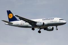 D-AIBD Lufthansa, Airbus A319-112 Imagem de Stock