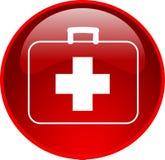 d'aide de bouton rouge d'abord Image libre de droits