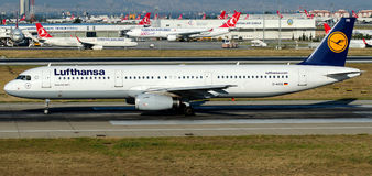 D-AIDQ Lufthansa, Aerobus A321-231 Fotografia Royalty Free