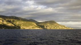 d'Ail della protezione di Eze della linea costiera Fotografie Stock